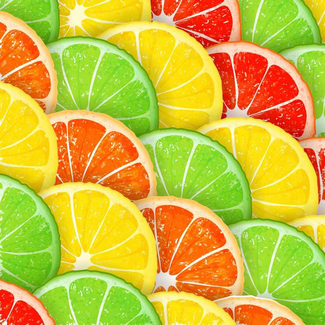 Citrus segments seamless background - vector gratuit #130974