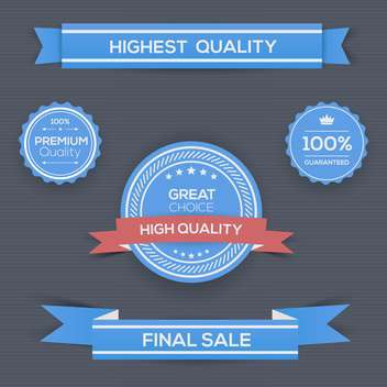 Vintage quality label template collection - vector gratuit #131034