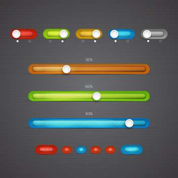 Modern color loading bars set - vector gratuit #131044