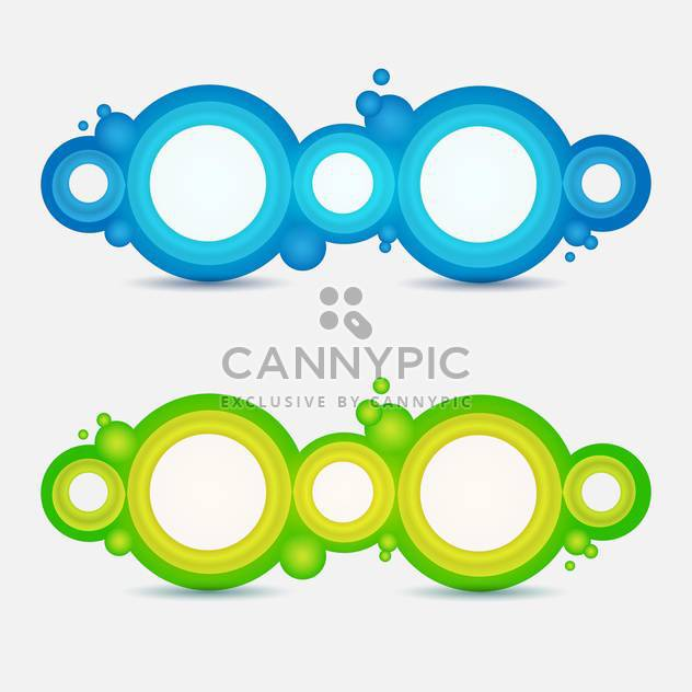 Circle frames on white background - Free vector #131074