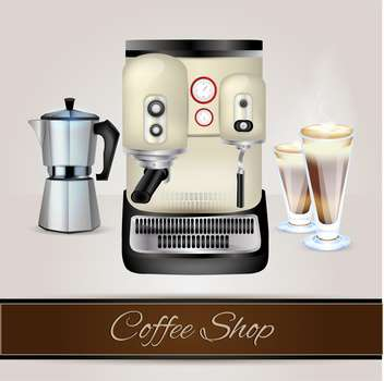 Vector collection of coffee-related objects - vector gratuit #131104
