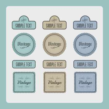 Vector set of vintage labels - vector gratuit #131114
