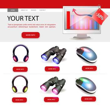 Shop website template design vector illustration - Free vector #131134