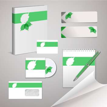 Set of templates for corporate identity - vector gratuit #131154