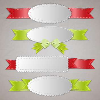 Set of vector ribbon banners. - vector gratuit #131174