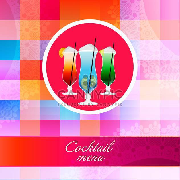 Cocktail glasses for vetor cocktail menu - Free vector #131234