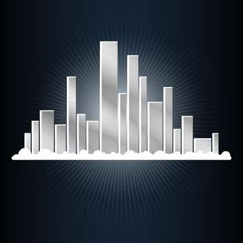 Abstract city vector illustration - vector gratuit #131244