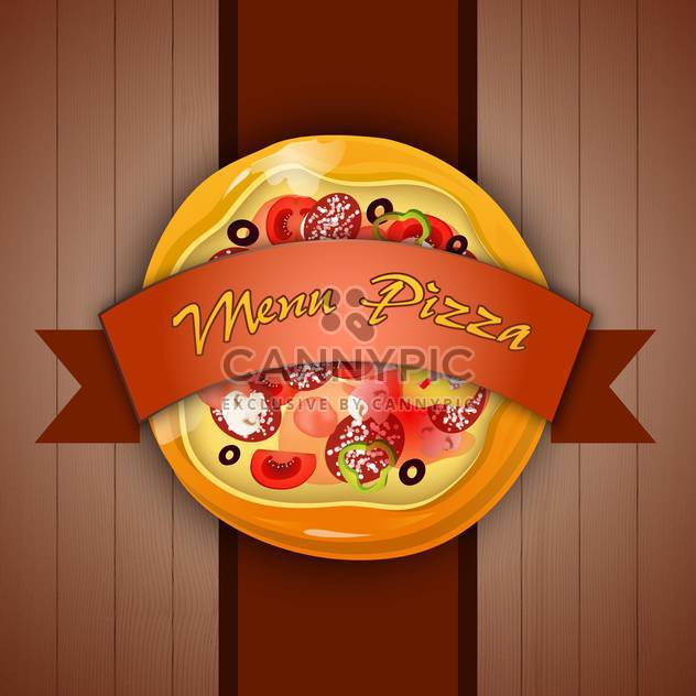 Design menu with pizza vector illustration - Free vector #131274