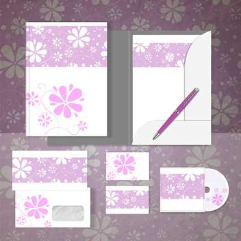 Objects for corporate identity vector set - vector #131284 gratis