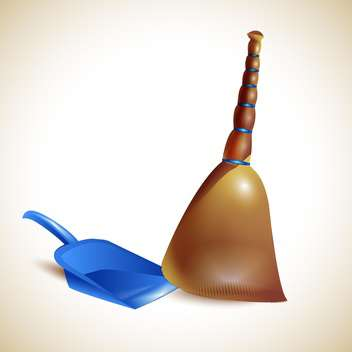 Broom and dustpan vector illustration - vector #131324 gratis