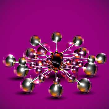 Abstract background with molecules spheres - vector gratuit #131434