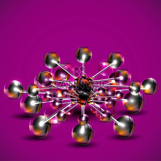 Abstract background with molecules spheres - Free vector #131434