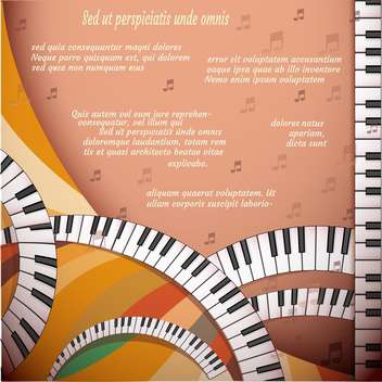 Musical background with piano keyboard - vector gratuit #131474