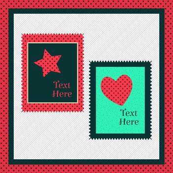 Greeting card with heart and star - бесплатный vector #131564
