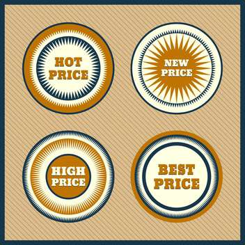 Collection of premium quality labels with retro vintage styled design - vector #131584 gratis