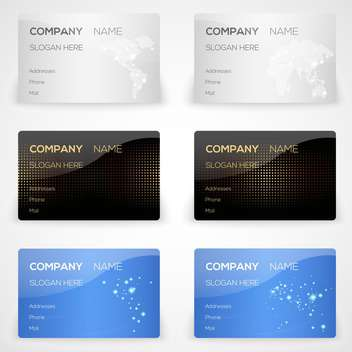 Vector business cards set - vector gratuit #131624