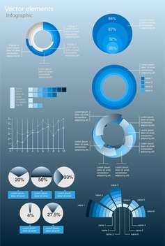 Vector infographic elements illustration - vector gratuit #131724