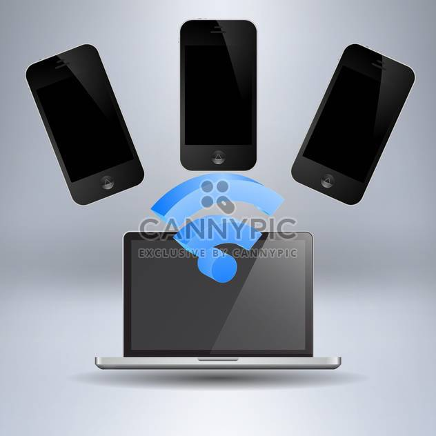 Vector set of modern digital devices - Free vector #131734