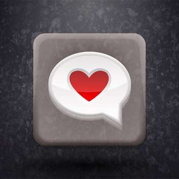 Illustration of a heart speech bubble - Free vector #131864