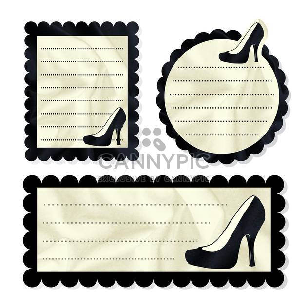 Vintage vector card with shoes - Kostenloses vector #131874