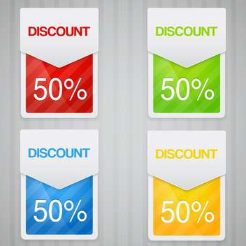 Discount labels with 50 percent discount - Kostenloses vector #131914