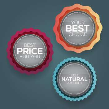 Retro vintage badges and labels vector illustration - бесплатный vector #131984