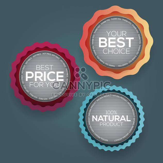 Retro vintage badges and labels vector illustration - Free vector #131984