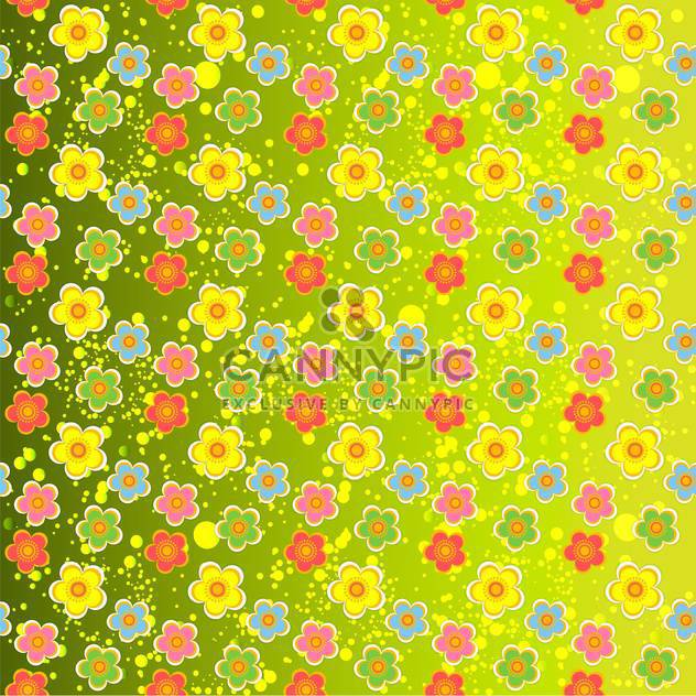 Grüne Vektor floral background - Kostenloses vector #132064