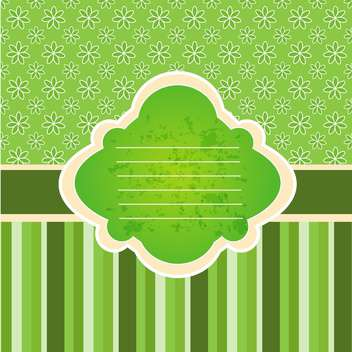 Vintage vector frame with copy space on green background - vector gratuit #132084