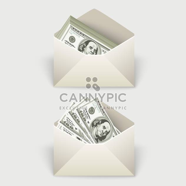 Dollar bills in two envelopes,vector illustration - Free vector #132174