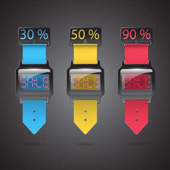 Set of colorful sale vector labels - vector gratuit #132204