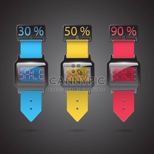 Set of colorful sale vector labels - Free vector #132204