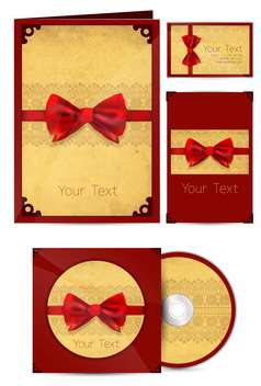 Selected vintage corporate templates with red ribbons , vector Illustration - vector gratuit #132234