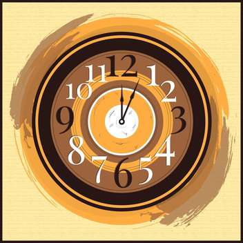 Vector vintage clock on yellow background,vector illustration - vector gratuit #132304