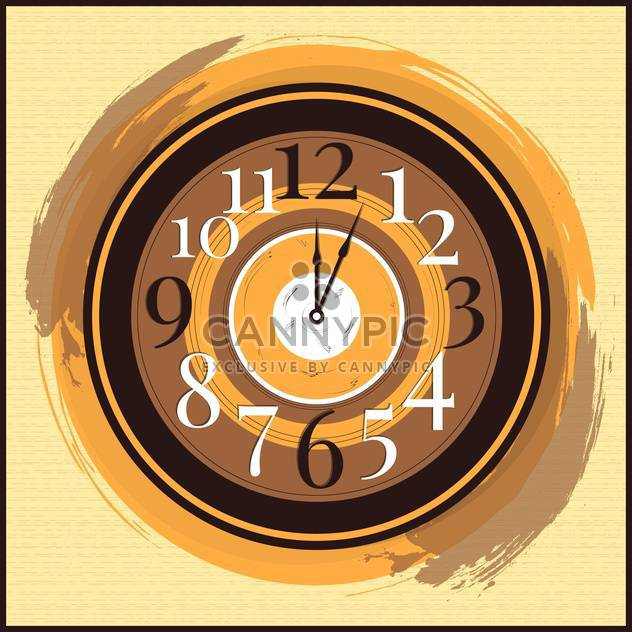 Vector vintage clock on yellow background,vector illustration - Free vector #132304