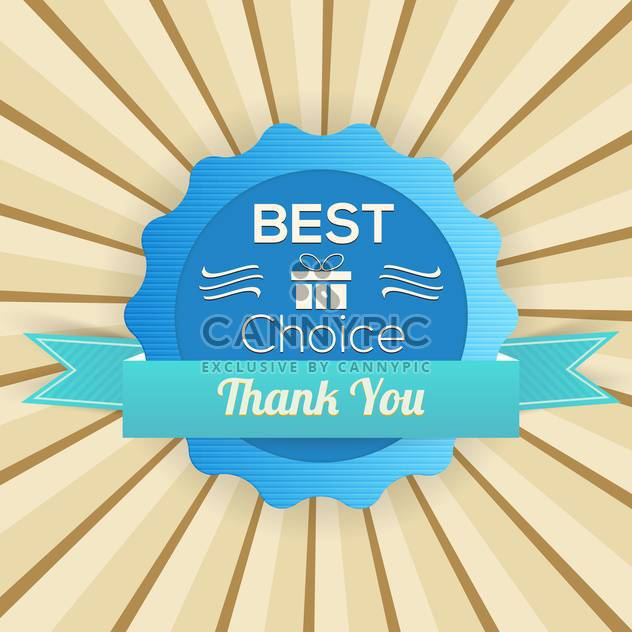 Old vector retro label - best choice,thank you - Free vector #132314