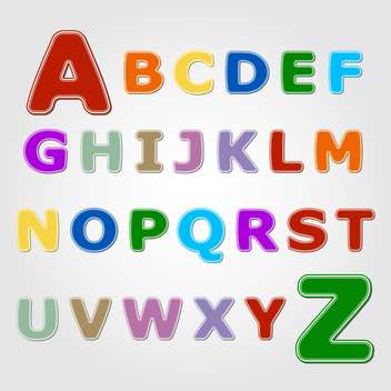 Colourful sticker font with letters from A to Z - vector gratuit #132364
