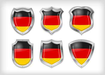 Different icons with flags of Germany,vector illustration - бесплатный vector #132374