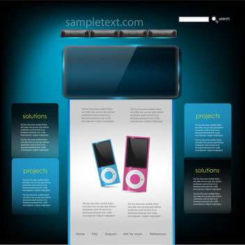 Vector website design template of mp3 players - vector gratuit #132384
