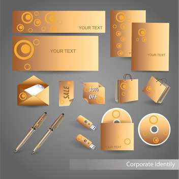 Selected golden corporate templates, vector Illustration - бесплатный vector #132444