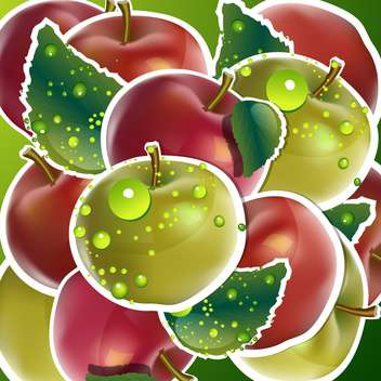 seamless apples fruits background - vector gratuit #132524