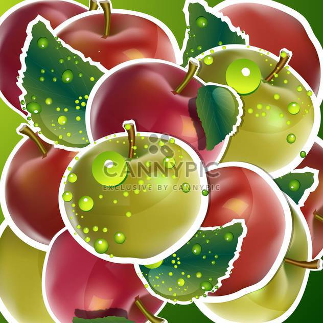 seamless apples fruits background - Free vector #132524