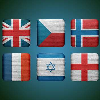 set of different countries flags - vector gratuit #132564