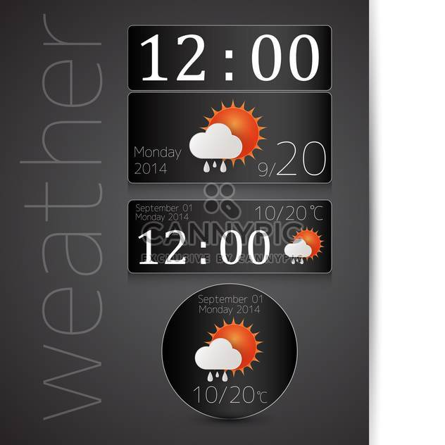 weather report icon background - Kostenloses vector #132594