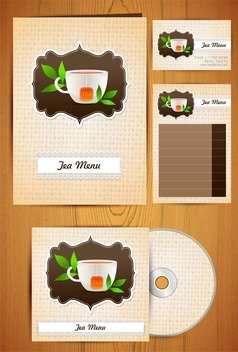 corporate identity tea menu labels set - Free vector #132604