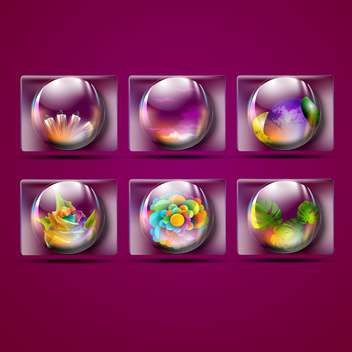 natural crystal scrying balls - vector gratuit #132614