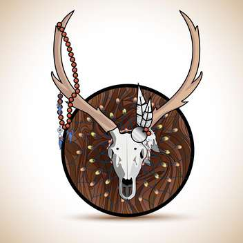 deer horns trophy illustration - Free vector #132674