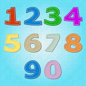 vector numbers set background - vector gratuit #132694
