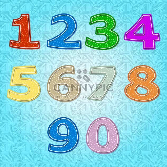 vector numbers set background - Free vector #132694
