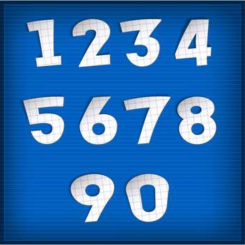 vector numbers set background - vector gratuit #132704